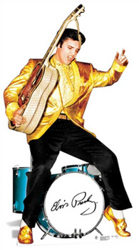 Elvis Gold Jacket and Drums cutout