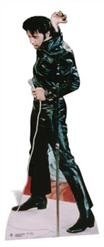 Elvis Wearing Black Leather cutout