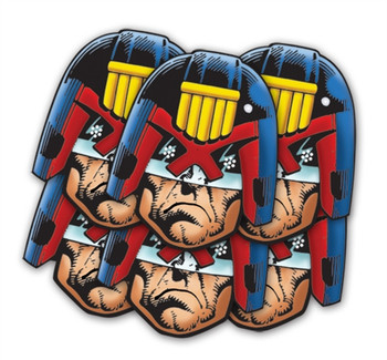 Judge Dredd Face Mask Set of 6