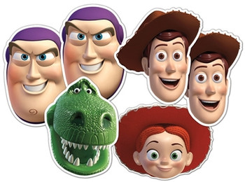 Toy Story Face Masks Set of 6 (Woody x 2, Buzz x 2, Jessie and Rex)