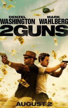 2 GUNS Poster double sided ADVANCE (2013) ORIGINAL CINEMA POSTER