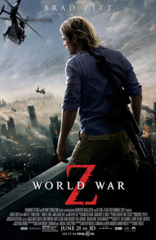 WORLD WAR Z Poster double sided REGULAR (2013) ORIGINAL CINEMA POSTER