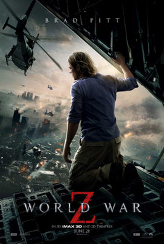WORLD WAR Z Poster double sided ADVANCE Style B (2013) ORIGINAL CINEMA POSTER