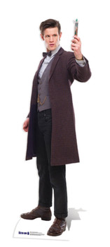 The 11th Doctor Holding Sonic Screwdriver Cardboard Cutout
