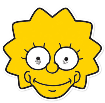 Lisa Simpson Party Face Mask (The Simpsons)