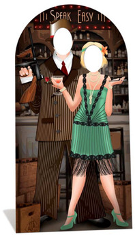 Roaring 1920s Speakeasy Cardboard Stand-in