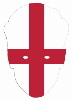 England Flag World Cup Football / Rugby Party Face Mask