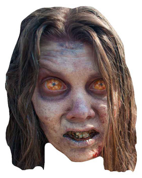 The Walking Dead Bug Eyed Zombette Zombie Party Face Mask