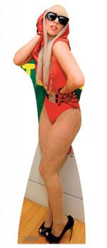 Lady Gaga wearing Red Dress Lifesize Cardboard Cutout