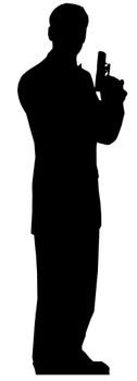 Secret Agent Male Single Pack (James Bond Style) - Lifesize Cardboard Cutout / Standee