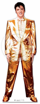 Elvis Presley Lifesize Cardboard Cutout / Standee - Gold Lame Tuxedo / Suit
