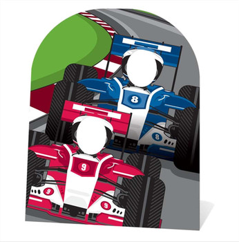 Racing Cars Stand In Child Size Cardboard Cutout