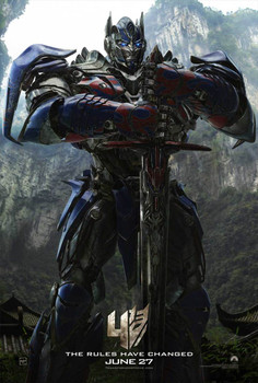 Transformers Age Of Extinction (Optimus Prime) Original Movie Poster - Double Sided Advance Style B