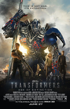 Transformers Age Of Extinction Original Movie Poster - Double Sided Regular Style