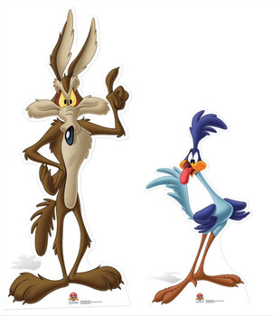 Road Runner and Wile E Coyote Cardboard Cutout