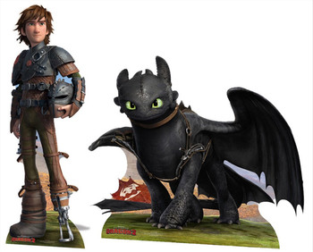 Hiccup and Toothless Cardboard Cutout Double Pack