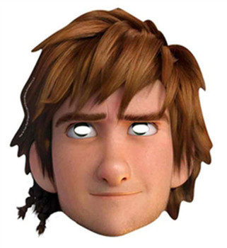 Hiccup How To Train Your Dragon 2 Party Face Mask (single)