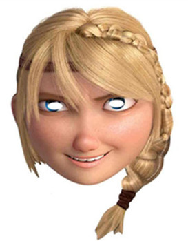 Astrid How To Train Your Dragon 2 Party Face Mask