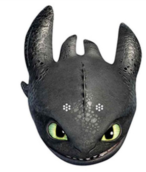 Toothless How To Train Your Dragon 2 Party Face Mask
