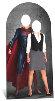 Superman and Lois Lane Stand in Cardboard Cutout