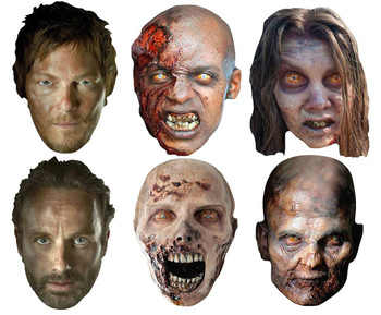 The Walking Dead Party Face Masks Variety Set of 6