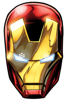 Iron Man Card Party Face Mask