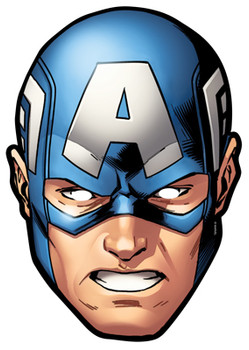 Captain America Card Party Face Mask