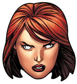 Black Widow Card Party Face Mask