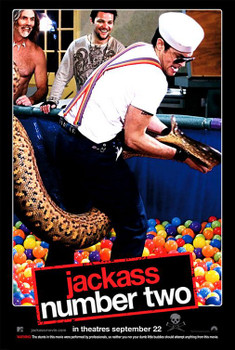 Jackass: Number Two Original Movie Poster - Double Sided Advance Anaconda