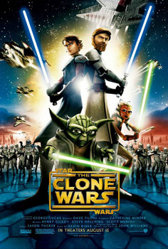 Star Wars: The Clone Wars Original Movie Poster - Double Sided Regular