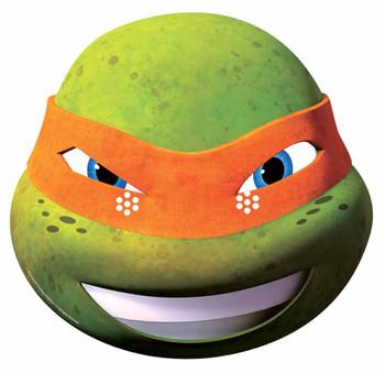 Michelangelo Teenage Mutant Ninja Turtles Single Cardboard Face Mask 2015