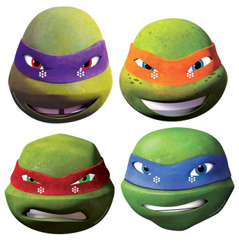 Teenage Mutant Ninja Turtles Variety 4 Pack of Card Party Face Masks 2015