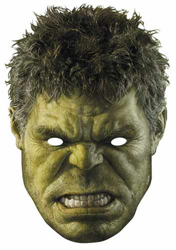 The Hulk Avengers Age of Ultron Single Card Party Face Mask