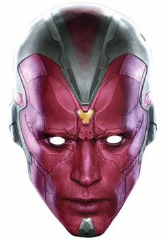 Vision Avengers Age of Ultron Single Card Party Face Mask