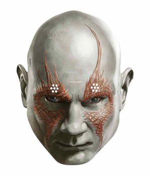Drax the Destroyer Guardians of the Galaxy Single Card Party Face Mask