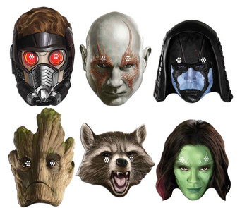 Guardians of the Galaxy Set of 6 Variety Face Mask Pack