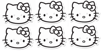 Hello Kitty Colour and Keep Card Party Face Masks - Pack of 6