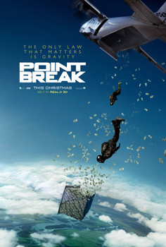 Point Break (2015) Original Movie Poster Double Sided Advance