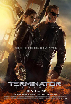 Terminator Genisys Original Movie Poster Double Sided Regular