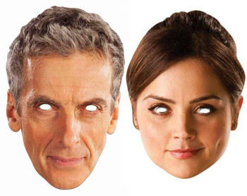 Peter Capaldi The 12th Doctor Who and Clara Oswald Card Party Face Masks (2 Pack)