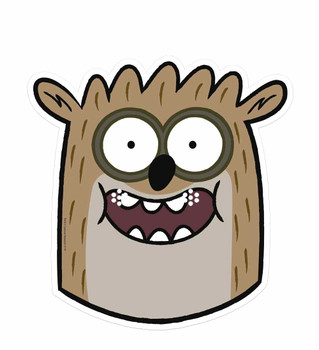 Rigby - Regular Show Single Card Party Face Mask