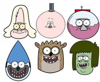Regular Show Variety Card Party Face Masks 6 Pack