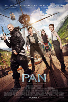 Pan Original Movie Poster Double Sided Regular Style B
