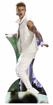 Justin Bieber with Tattoos Lifesize Cardboard Cutout / Standee
