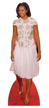 Michelle Obama Lace Dress Lifesize Cardboard Cutout / Standee / Standup