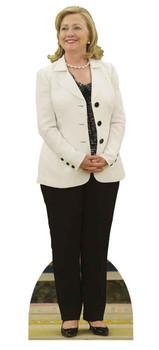 Hillary Clinton White Jacket Lifesize Cardboard Cutout / Standee / Standup