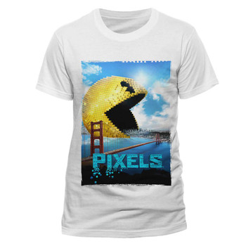 Pixels Movie Pac-Man Eating San Francisco Official Unisex T-shirt