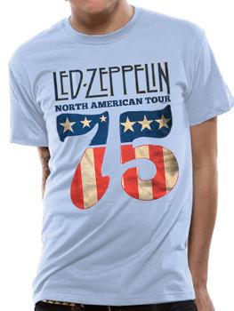 Led Zeppelin Classic US 75 Official Unisex T-Shirt
