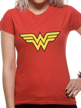 Wonder Woman Logo DC Comics Official Women's Fitted T-Shirt