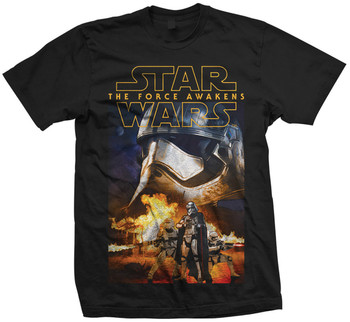 Captain Phasma and Troopers Star Wars The Force Awakens Official Star Wars Unisex T-Shirt